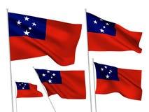 Bandeiras do vetor de Samoa Ilustração Stock