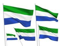 Bandeiras do vetor de Serra Leoa Ilustração Stock