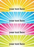 Bandeiras do vetor do Sunburst Imagens de Stock