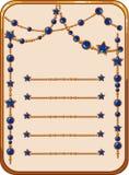 Bandeiras do vetor dos desenhos animados com pedras preciosas brilhantes Fotografia de Stock Royalty Free