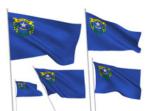 Bandeiras do vetor dos EUA Nevada Ilustração do Vetor