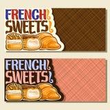 Bandeiras do vetor para doces franceses Imagens de Stock Royalty Free