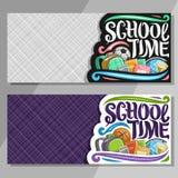 Bandeiras do vetor para a escola Fotos de Stock Royalty Free