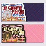 Bandeiras do vetor para o Funfair do carnaval Fotografia de Stock Royalty Free