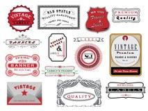Bandeiras do vintage Imagens de Stock
