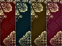 Bandeiras do vintage ajustadas Imagem de Stock Royalty Free