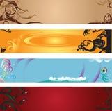 Bandeiras do Web Foto de Stock