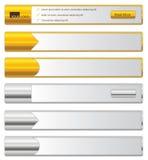 Bandeiras do Web ilustração do vetor