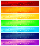 Bandeiras do Web Fotos de Stock Royalty Free