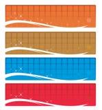 Bandeiras do Web Imagens de Stock