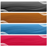 Bandeiras do Web Imagem de Stock