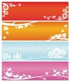 Bandeiras do Web ilustração stock