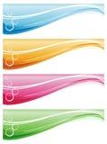 Bandeiras do Web Foto de Stock Royalty Free