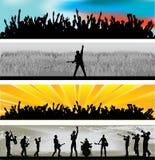 Bandeiras do Web da música Imagens de Stock Royalty Free