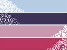 Bandeiras do Web do desenhador ilustração stock