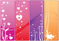 Bandeiras do Web do Valentim Foto de Stock Royalty Free