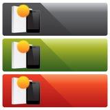 Bandeiras do Web site do vetor ilustração do vetor