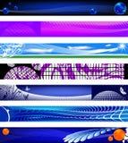 Bandeiras do Web site. tamanhos 730x90. Imagens de Stock
