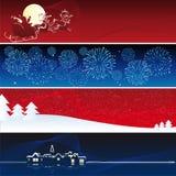 Bandeiras do xmas do vetor Foto de Stock