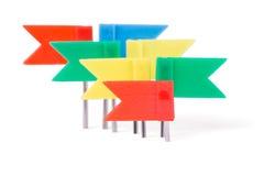 Bandeiras dos artigos de papelaria em cores diferentes Fotos de Stock