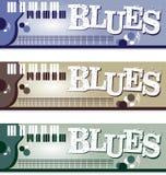 Bandeiras dos azuis Fotografia de Stock Royalty Free