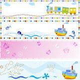 Bandeiras dos bebês Foto de Stock Royalty Free