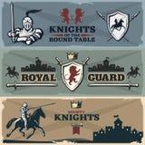 Bandeiras dos cavaleiros ajustadas ilustração royalty free
