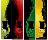 Bandeiras dos cocktail ilustração stock