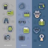 Bandeiras dos dispositivos do espião ajustadas Fotografia de Stock