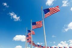 Bandeiras dos E.U. imagem de stock