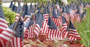 Bandeiras dos E.U. foto de stock