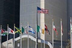 Bandeiras dos E.U. Israel Imagens de Stock