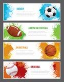 Bandeiras dos esportes do Grunge ilustração royalty free