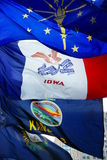 Bandeiras dos estados Foto de Stock