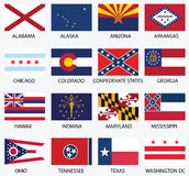 Bandeiras dos estados do Estados Unidos da América Foto de Stock Royalty Free
