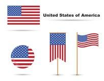 Bandeiras dos EUA ilustração do vetor