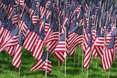 Bandeiras dos EUA Foto de Stock Royalty Free