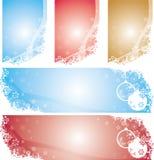 Bandeiras dos flocos de neve do Natal Fotografia de Stock