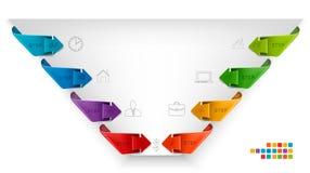 Bandeiras dos gráficos de Nfo Fotos de Stock