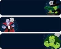 Bandeiras dos monstro de Halloween Fotografia de Stock Royalty Free