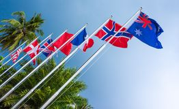 Bandeiras dos países Imagens de Stock