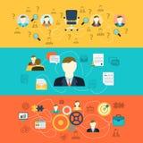 Bandeiras dos recursos humanos ilustração stock