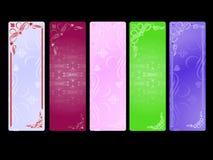 Bandeiras dos Valentim ajustadas Imagens de Stock Royalty Free