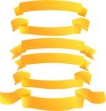 Bandeiras douradas Imagem de Stock