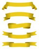 Bandeiras douradas Imagem de Stock Royalty Free