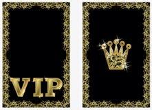 Bandeiras douradas da coroa do VIP, vetor Fotos de Stock