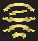 Bandeiras douradas (ilustração) Fotografia de Stock Royalty Free