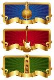 Bandeiras douradas musicais Fotos de Stock
