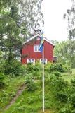 Bandeiras e cores da bandeira sueco fotografia de stock royalty free