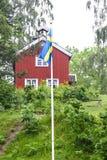 Bandeiras e cores da bandeira sueco fotos de stock